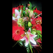 HF Bold and Beautiful Bouquet in Clear Glass Vase