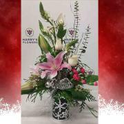 Silver Bell Vase Arrangement