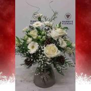 Snowflake Vase Arrangement
