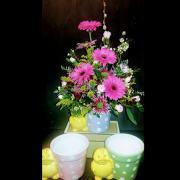HF Spring Ducky - Blue Vase