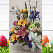 Welcome Bunny Arrangement Green