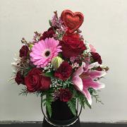 Exuberant Valentine Arrangement