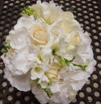 Hydrangea Freesia Rose Bouquet