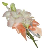 White dendrobium corsage