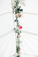Flowers in a tent