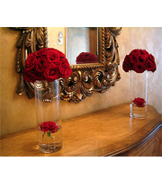 Broadway Florists Red Roses on Cylinder Vase