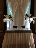 BLACK/WHITE FEATHER CENTREPIECE RENTAL