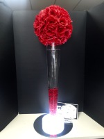 RED ROSE BALL CENTERPIECE