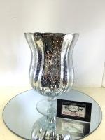 MERCURY GLASS URN SILVER