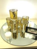 MERCURY GLASS VOTIVE GOLD