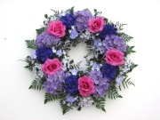Hydrangea and Rose Wreath
