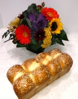 Challah and Centerpiece