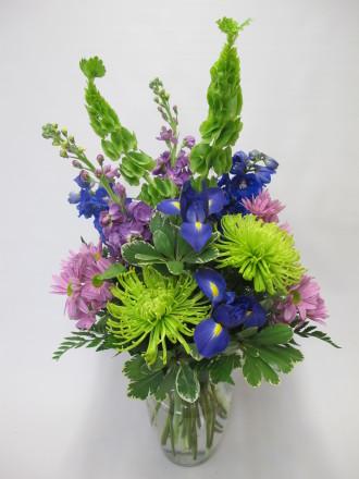 Blue Belle Vase