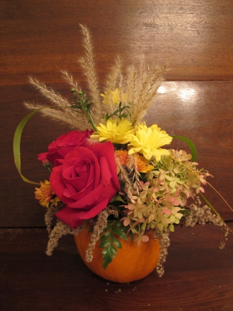 PUMPKIN Rose Centerpiece