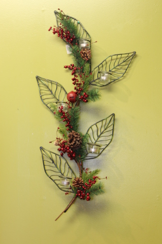 Decorative Wall Leaf Candle Holder