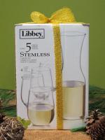 Wine Caraff and Set of 4 White Wine Glasses