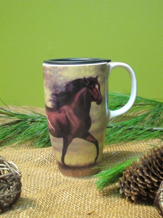 Travel Mug with Horse Design