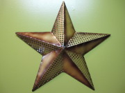 21in Gold Metal Star