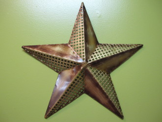 18in Gold Metal Star