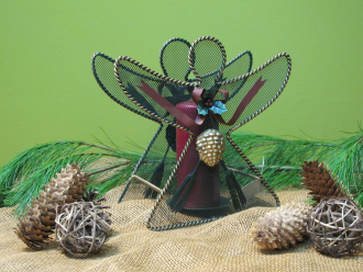 Metal Mesh Decorative Angel Candle Holder