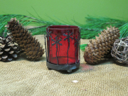 Red Snowflake Tealight Holder