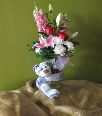 Huggy Bear Mixed Vase