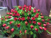 Red Roses Beauty Casket Spray