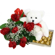 Roses Bear Chocolate