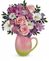 The Spring Tulip Pitcher Bouquet