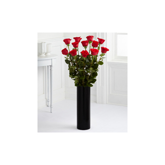 The Ultimate 3 foot Select Dozen Roses arranged in a vase