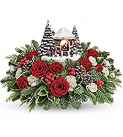 Thomas Kinkade's Jolly Santa Bouquet