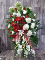 Red & White Sympathy Easel