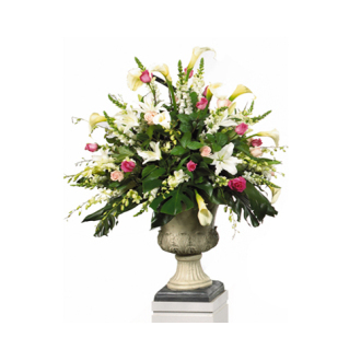 CARISMA FLORISTS® Pink & White Classic Container