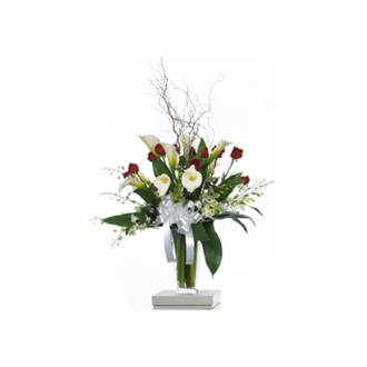 CARISMA FLORISTS® Rose and Calla Lily Vase