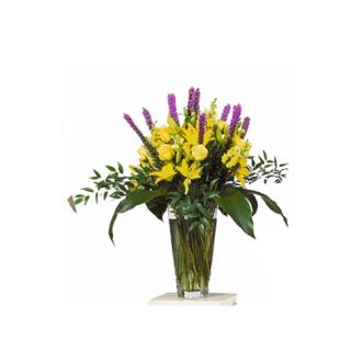 CARISMA FLORISTS® Yellow & Mauve Seasonal Vase