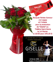 Pearls of Love 12 Roses & 2 Tickets to Giselle