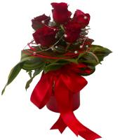 Love Basket - 6 Roses