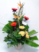 Arrangement dans un vase