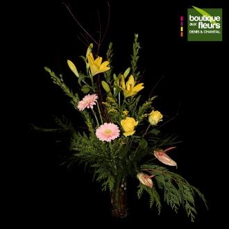 Bouquet colore en vase