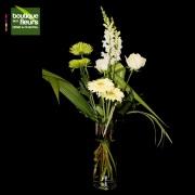 Bouquet blanc en vase