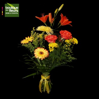 Bouquet tons chaud en vase