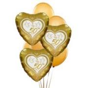 HAPPY 50th ANNIVERSARY BALLOON BOUQUET