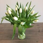 Pastel Tulips in Vase