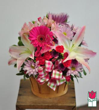 beretania florist spring garden deluxe basket