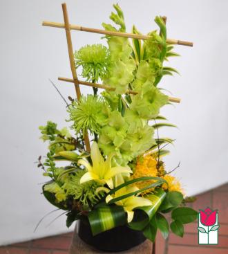 beretania florist mila contemporary spring arrangement