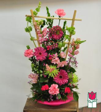 beretania florist savannah contemporary spring arrangement