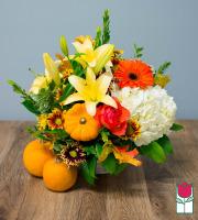 Beretania's Deluxe Fall Basket - w/ Mini Pumpkin