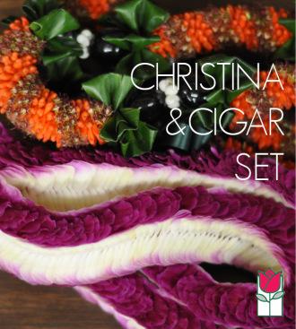 Christina & Cigar Lei Set