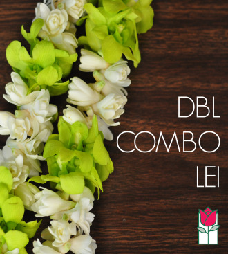 Double Tuberose w/ Green Orchid Lei