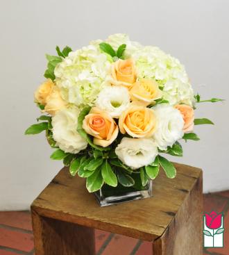 Beretania\'s Peach Compact Bouquet